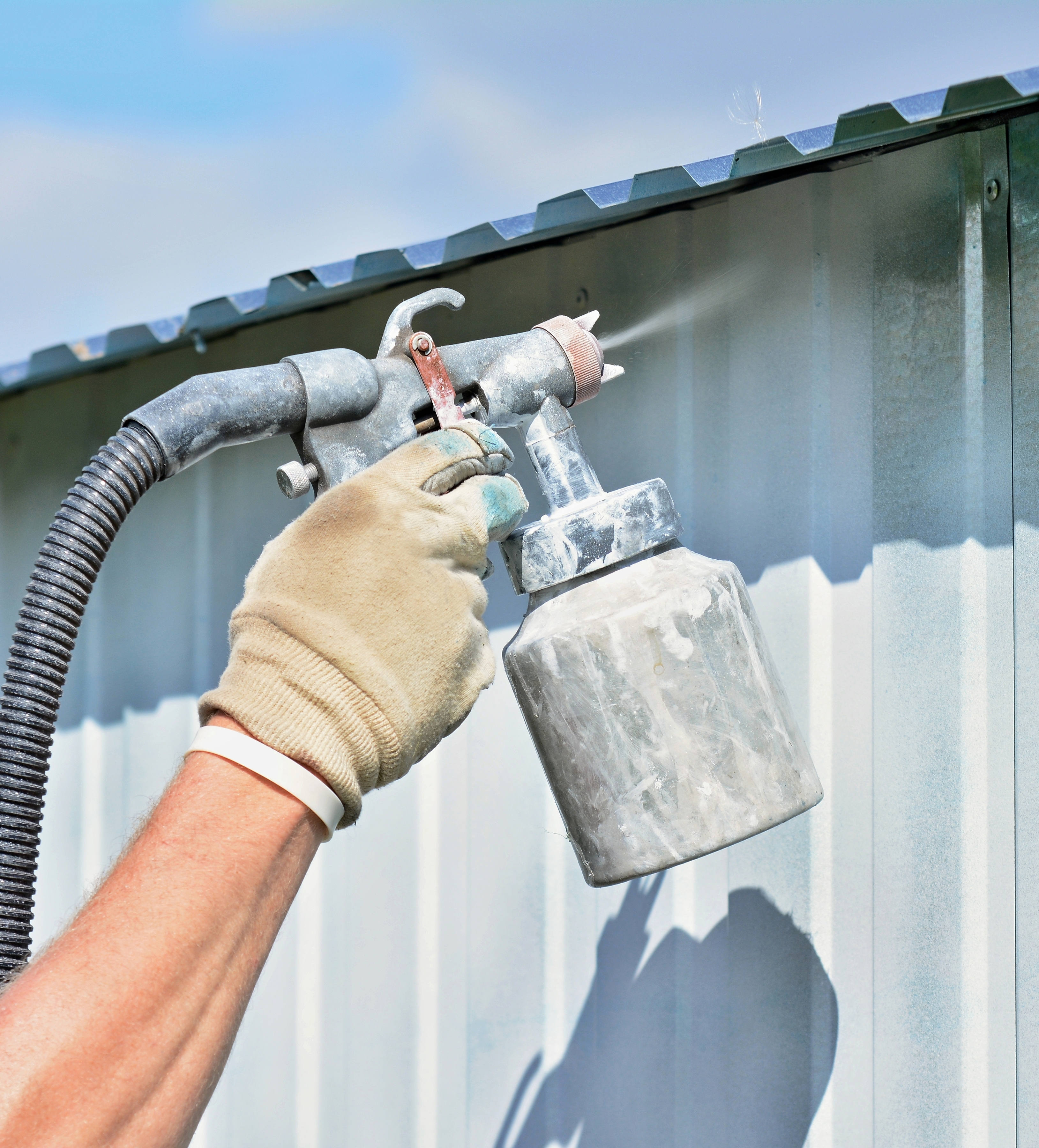 Tips for using a paint sprayer restoration by l b for Indianapolis painting company